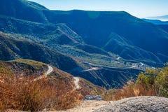 Nature of San Gabriel Mountains to Crystal Lake Royalty Free Stock Image