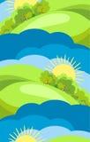 Nature sans joint de l'image de campagne Images libres de droits