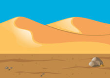 Nature scene with sand in desert. Illustration Royalty Free Stock Photography