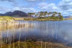 Nature scenery of Connemara. Connemara mountains and lake scenery, Ireland Stock Photo