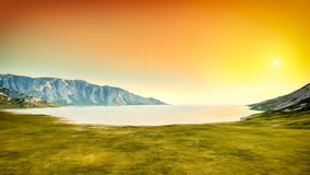 Nature scenery sunset background Royalty Free Stock Image