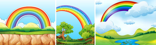Nature scenes with rainbow Royalty Free Stock Photo