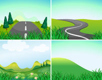 Nature scenes with road and hills Royalty Free Stock Photography
