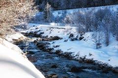 Nature Scenes winter landscape river. Stock Images