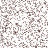 Nature seamless doodle Royalty Free Stock Image