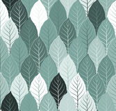 Nature seamless pattern background with leaves vector.  Stock Image