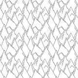 Nature Seamless Pattern in Black and White Stock Images