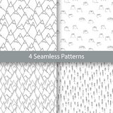 Nature Seamless Pattern in Blue Color Royalty Free Stock Photos