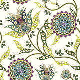 Nature seamless pattern in flower shape. Over white Royalty Free Stock Photos