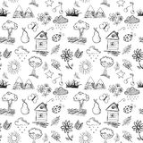 Nature seamless pattern Stock Photos