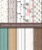 Nature seamless patterns Royalty Free Stock Images