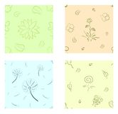Nature seamless set. Eps 10 vector seamless pattern set. Nature design Stock Image
