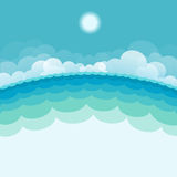 NAture seascape background with sea and sun Royalty Free Stock Images