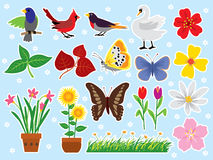 Nature Set Royalty Free Stock Photography