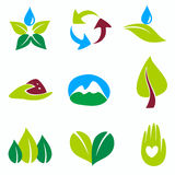 Nature set of symbols Stock Images
