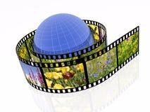 Nature shots and globe Royalty Free Stock Image