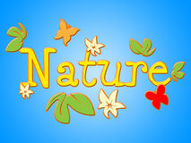 Nature Sign Shows Florals Environment And Outdoors Royalty Free Stock Photography