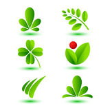 Nature signs. Set of vector templates with nature icons Royalty Free Stock Images