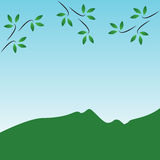 Nature. Simple Nature. Vector mountains on the sky Royalty Free Stock Photography