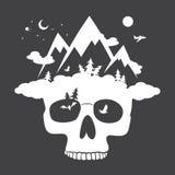 Nature skull mountain Stock Photography