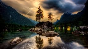 Nature, Sky, Reflection, Mountain Royalty Free Stock Photography