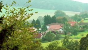 Nature and Small Town.  stock footage