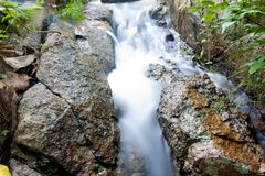 Nature of small water fall. From mountain atKhao Phu Don Sam Nak Thon, Ban Chang Rayong Thailand Stock Photo