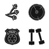 Nature, sport, ecology and other web icon in black style. training, muscles, competitions icons in set collection. Nature, sport, ecology and other  icon in Stock Photo
