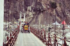 Nature. Spring. Another Bridge in Manali royalty free stock photo
