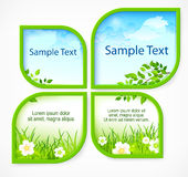 Nature spring banners. With section for text, vector illustration Stock Photography
