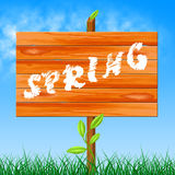 Nature Spring Shows Seasons Environmental And Countryside Royalty Free Stock Photography