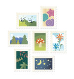 Nature Stamps Royalty Free Stock Photography