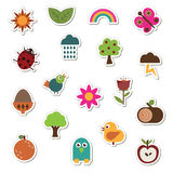Nature stickers Royalty Free Stock Images