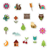 Nature stickers Stock Image