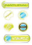 Nature stickers and buttons set Stock Image