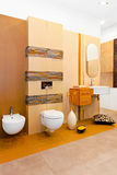 Nature style bathroom stock photography