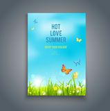 Nature summer template Royalty Free Stock Image