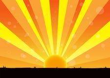 Nature of sunrise royalty free illustration