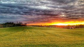 Nature sunset hdr background Stock Images