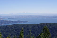 Nature surrounding Vancouver. The scenery of nature surrounding Vancouver and lower mainland, BC,Canada, seen from Mt. Gardner on Bowen island royalty free stock photos