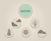 Nature symbol Royalty Free Stock Photography