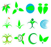 Nature symbol icon ecology,wellness,green,leaves,: Leaf,plant,lo Royalty Free Stock Photos