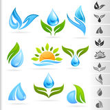 Nature Symbol and Icons series - 1 Water Stock Photo