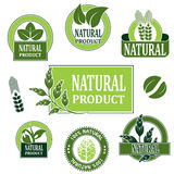 Nature symbols for natural product Stock Images