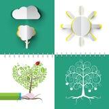 Nature Symbols Set. vector illustration