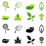 Nature symbols vector Stock Images