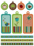 Nature tags and borders Royalty Free Stock Images