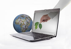 Nature and technology Royalty Free Stock Photo