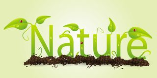 Nature text Royalty Free Stock Image