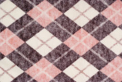 Nature textile. Checker color wool warm textile texture Royalty Free Stock Photography